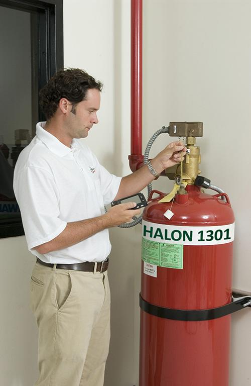 Replacing Halon Fire Suppression