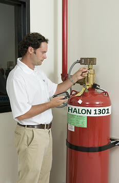 Replacing Halon Fire Suppression