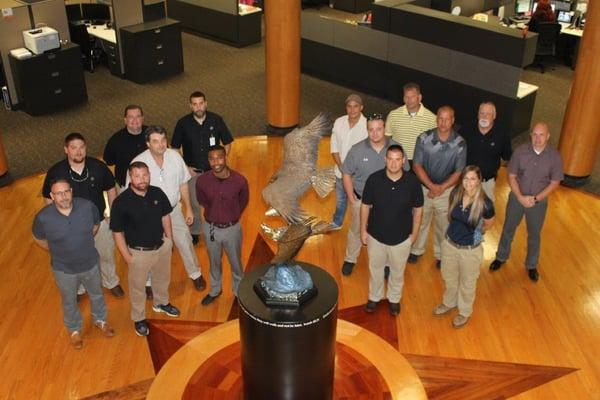 Fall technicians group eagle