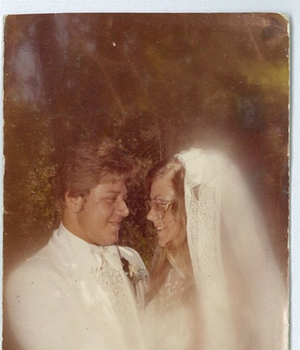 James and Carla at their wedding