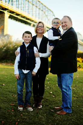 Tim Ledbetter with wife and grandkids