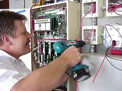 James at work