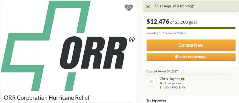 ORR Corporation Hurricane Relief