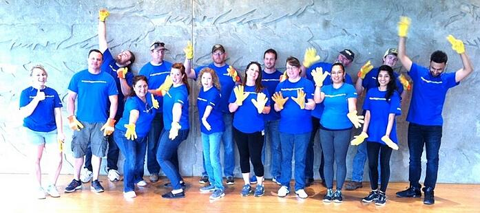 Southwest Volunteers with ORR Safety Gloves