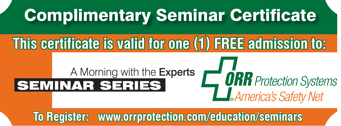 Print this page for complimentary seminar certificates.
