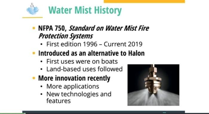 water mist systems webinar
